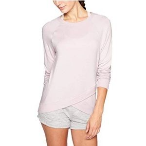Athleta Blush Pink Criss across Sweater